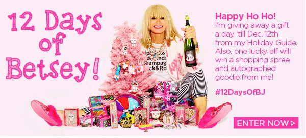 12 Days of Betsey! Holiday Giveaway! Enter Now