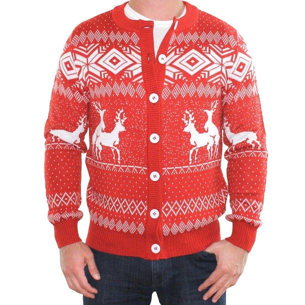 Reindeer Cardigan Red