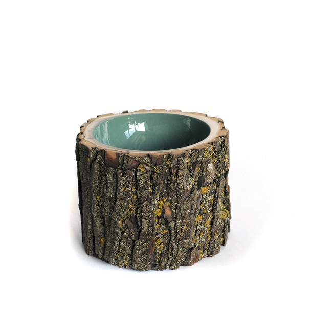 Log Bowl Medium Pale Sage