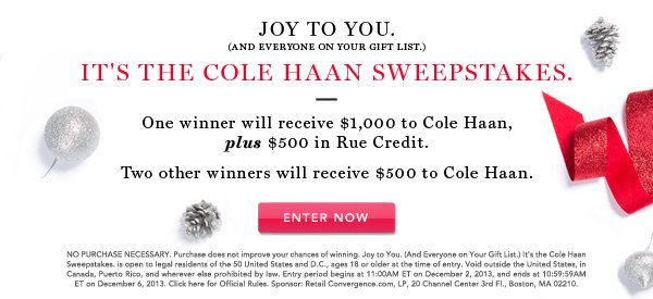 Cole Haan Sweeps