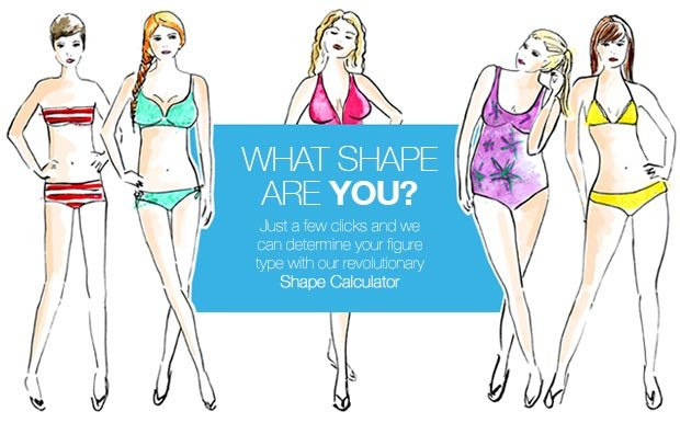 What shape are you? Just a few clicks and we can determine your figure type with our revolutionary Shape Calculator