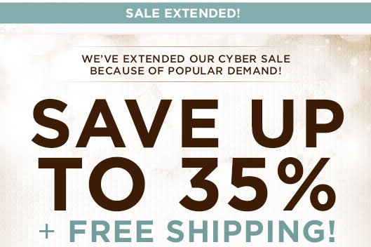 Save up to 35% + Free Shipping!