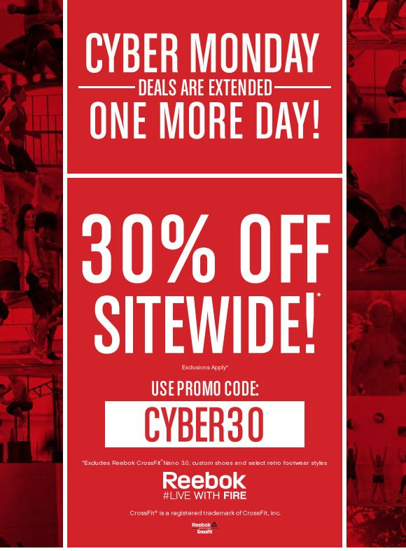 CYBER MONDAY DEALS ARE EXTENDED ONE MORE DAY! 30% OFF SITEWIDE PROMO CODE: CYBER30