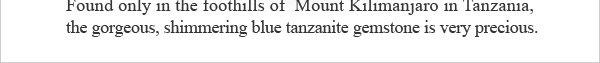 Masterpieces Stunning Tanzanite