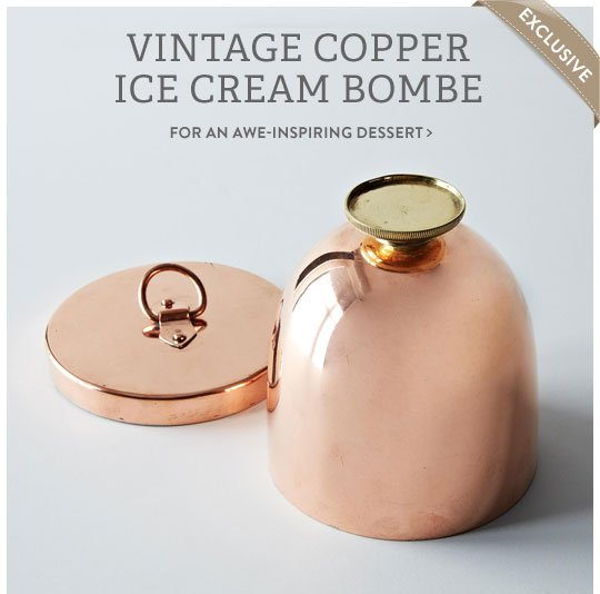 Copper Ice Cream Bombe