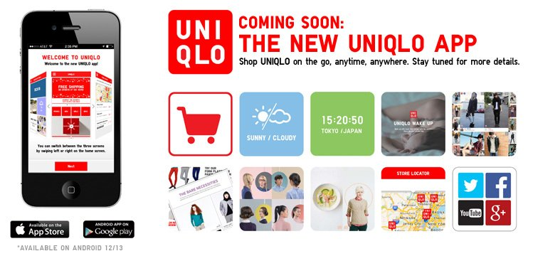 COMING SOON: THE NEW UNIQLO APP