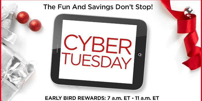 Shop Cyber Tuesday at Catherines!
