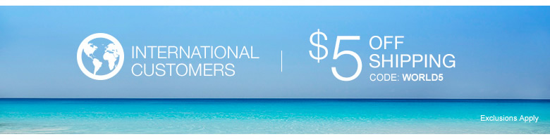 International Customers - take $5 off Shipping- code: WORLD5