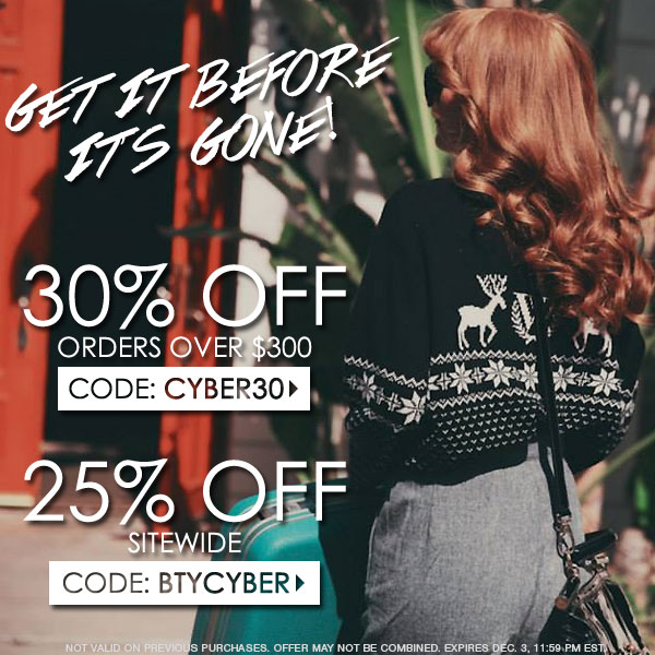 Shop the Extended Cyber Monday Sale at Boutique To You!