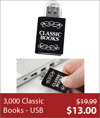 USB Library With 3,000 Classic Books