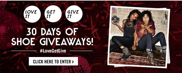 Click here to enter 30 Days of Shoe Giveaways!