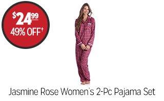 Jasmine Rose Women's 2-pc Pajama Set - $24.99 - 49% off‡