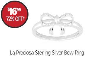 La Preciosa Sterling Silver Bow Ring - $16.99 - 72% off‡