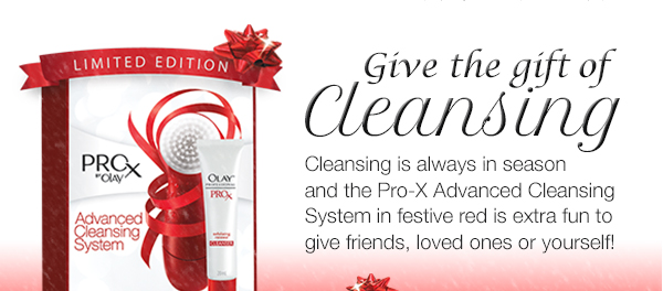 Give the gift of cleansing. Cleansing is always in season and the Pro-X Advanced Cleansing System in festive red is extra fun to give friends, loved ones or yourself!