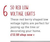50 red low voltage lights