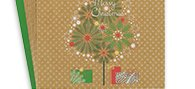 large charity kraft tree cards - pack of 8