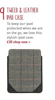 tweed & leather ipad case