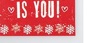 all i want is you husband christmas card