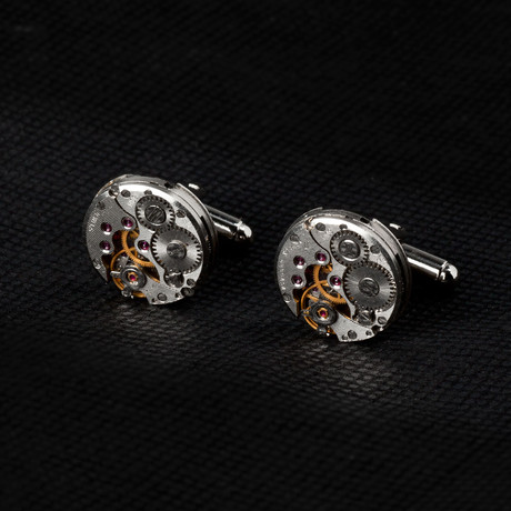 Watch Movement Cufflinks // Round