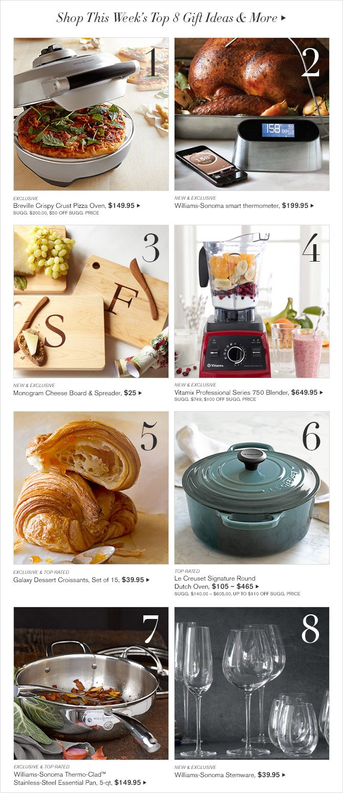 SHOP THIS WEEKS TOP 8 GIFT IDEAS AND MORE
