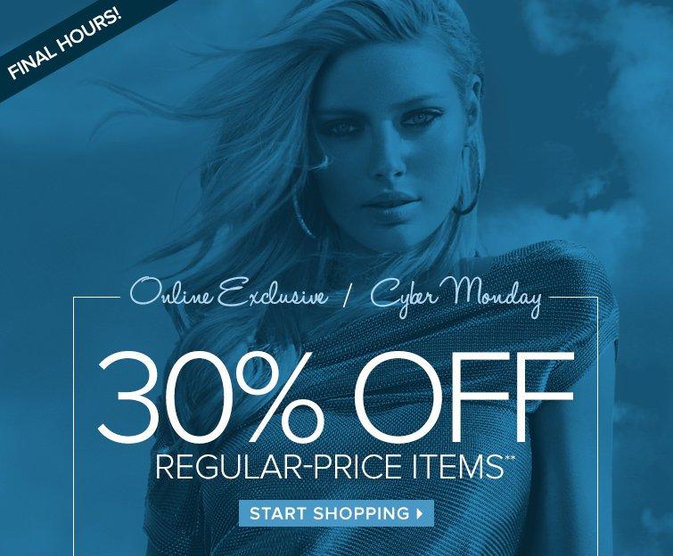 30% off regular-price items