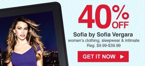40% OFF Sofia by Sofia Vergara   GET IT NOW
