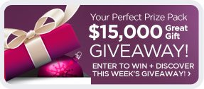 Your Perfect Prize Pack - $15,000 Great Gift Giveaway!