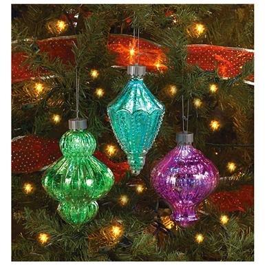 6-Pc. Color-changing Christmas Ornament Set