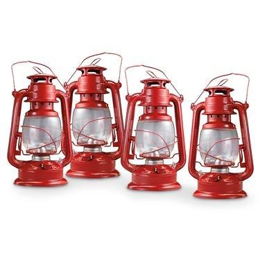 4 Kerosene Hurricane Lanterns
