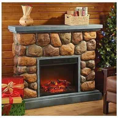CastleCreek™ Imitation Stone Fireplace