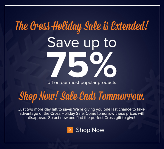 Sale Extended 2 Days!