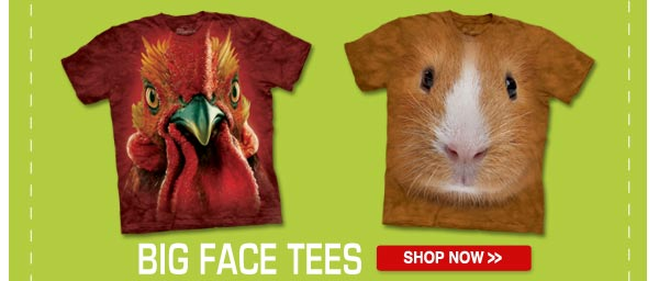 BIG FACE TEES: Shop now