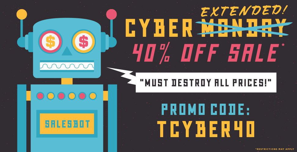40% Off Cyber Monday Sale