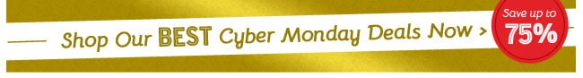 Shop Our BEST Cyber Monday Deals Now! Save up to 75%