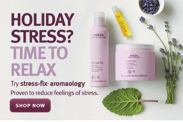 holiday stress? time to relax. shop now.