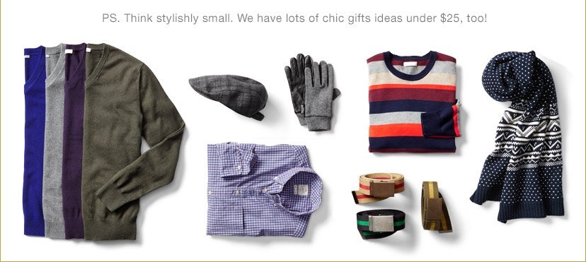 PS. Think stylishly small. We have lots of chic gifts ideas under $25, too!