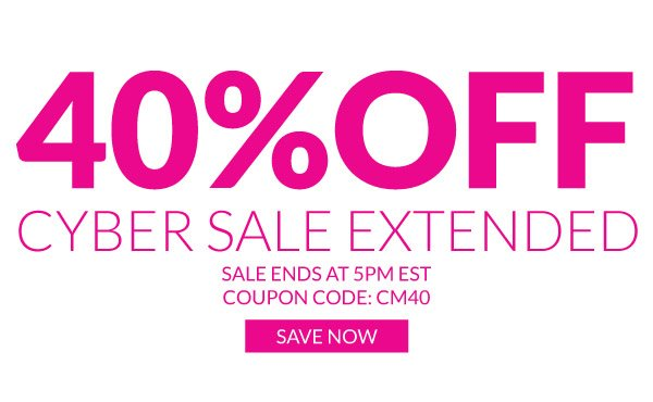 Save 40% Off the Entire Site with Coupon Code CM40! Hurry, Sale Ends at 5pm EST!