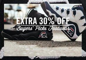 Shop Extra 30% Off Buyers' Picks Footwear