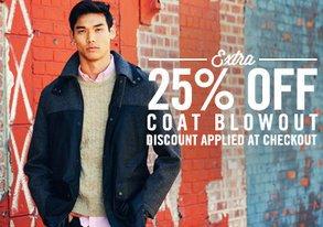 Shop Extra 25% Off: Coat Blowout