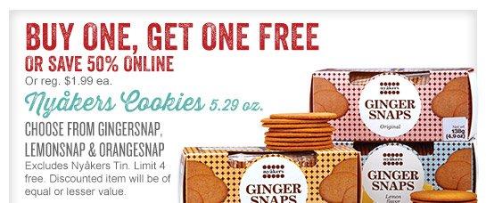 Nyakers Cookies - Buy One, Get One Free