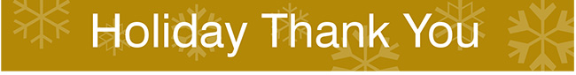 Holiday Thank You