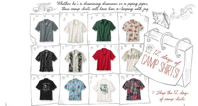 Shop The 12 Days Of Camp Shirts