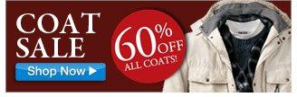 coat sale - 60 percent off all coats! - click the link below