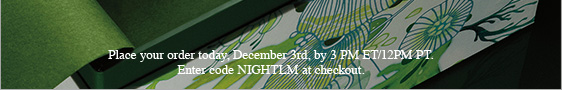 Place  your order today, December 3rd, by 3 PM ET/12PM PT.Enter code NIGHTLM  at checkout.