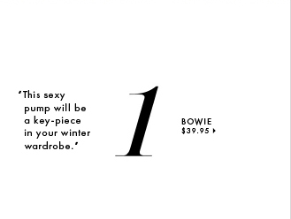 Bowie - $39.95