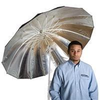 Adorama - Flashpoint 16-Rib 60 Parabolic Silver Umbrella