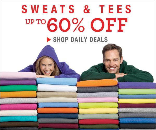 Sweats and Tees up to 60% off!