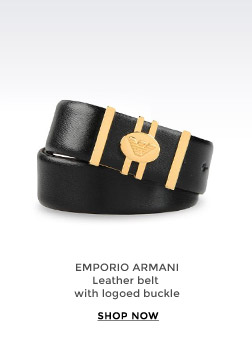 EMPORIO ARMANI - Leather belt in with logoed buckle