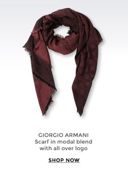 GIORGIO ARMANI - Scarf in modal blend with all over logo