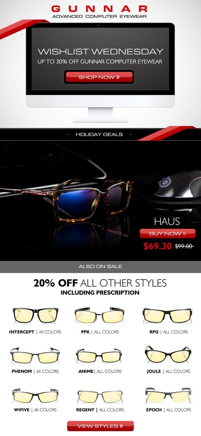 Wishlist Wednesday | Save 30% on Haus Computer Glasses